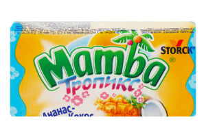 Конфеты жевательные Тропикс Storck Mamba м/у 26.5г