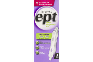 Digital E.P.T. Early Pregnancy Test - 3 CT