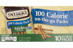 Snyder's Of Hanover 100 Calorie On-The-Go Packs Pretzel Sticks - 10 PK