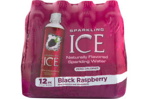 Sparkling Ice Naturally Flavored Sparkling Water Black Raspberry - 12 CT