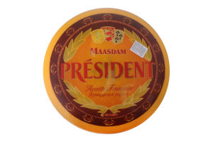 Сыр 48% твердый Maasdam President кг
