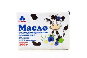 Масло 73% Селянское Рудь 200г