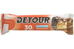 Detour 30g Protein Whey Protein Bar Lower Sugar Caramel Peanut