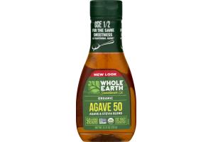 Whole Earth Sweetener Co. Organic Blue Agave 50 Agave & Stevia Blend