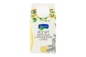 Йогурт 2.5% с наполнителем Злаки Мгарский Гармонія т/п 450г