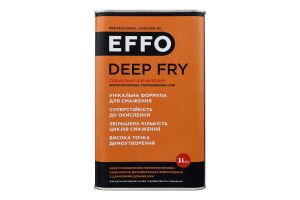 Масло подсолнечное високоолеиновое рафинированное Deep Fry Effo ж/б 1л
