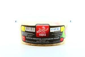 Капуста Чудова марка квашена з солодким перцем 400г