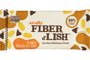 NuGo Fiber d'Lish Soft Baked Delicious Treat Peanut Chocolate Chip Bar