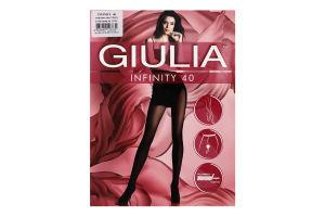 Колготки жіночі Giulia Infinity 40den 3-M nero