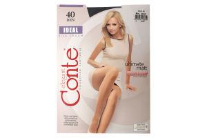 Колготки жіночі Conte elegant Ideal №16С-30СП 40den 4-L nero