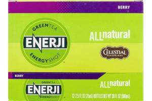 Enerji Green Tea Energy Shot Berry - 12 CT