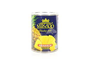 Ананас кусочками в сиропе Mikado ж/б 565г