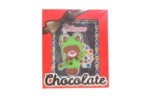 Шоколад Шоколадні чудеса Листівка Тедді з букетом 100г х12