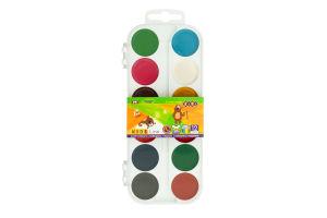 Фарби акваельні ZiBi пластикова коробка 12кольорів