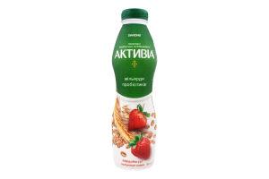 Бифидойогурт 1.5% Клубника-злаки Активіа п/бут 580г