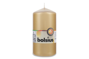 Свеча Bolsius цилиндр золото 130/70мм
