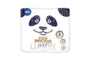 Папір туалетний 4 шаровий Art Luxury Сніжна панда 8шт