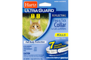 Hartz Ultra Guard Reflecting Flea & Tick Collar For Cats And Kittens