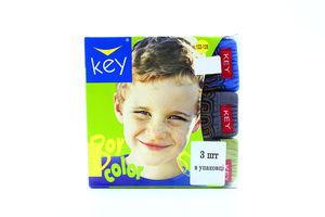 Труси Key для хлопчиків 3шт 122-128 BPC 707