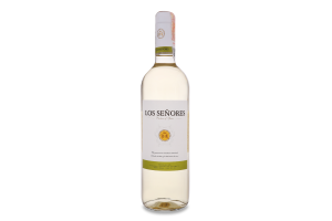Вино0.75л 12% белое сухое Vina BlancoLos Senores бут