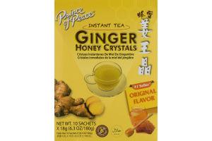 Prince of Peace Instant Tea Ginger Honey Crystals Original Flavor Sachets - 10 CT