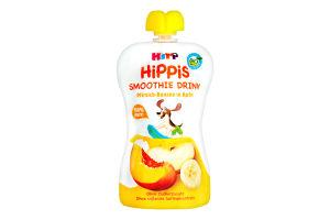 Смузі для дітей від 12міс Персик з яблуком та бананом HiPPiS HiPP д/п 120г