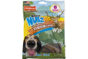 Nylabone Edibles Natural Nubz Dog Chews Venison Flavor Medium - 8 CT