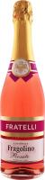 Напій винний 0.75л 6-6.9% рожевий напівсолодкий ігристий Fragolino Rosato Fratelli пл