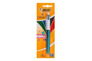 Ручка кулькова автоматична Shine 4 Colours BiC 1шт
