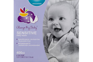 Always My Baby Baby Wipes Sensitive Unscented - 400 CT