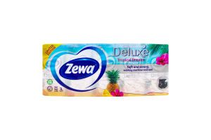 Хусточки паперові 3-х шарові Deluxe Zewa 10шт