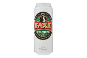 Пиво 0.5л 5.0% солодовое Faxe Premium ж/б