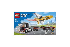 Конструктор для детей от 5лет №60289 Транспортер каскадёрского самолета City Lego 1шт