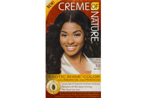 Creme of Nature Permanent Hair Color Soft Black 3.0