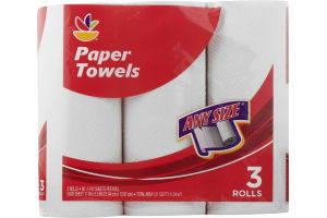 Ahold Paper Towels Any Size - 3 CT