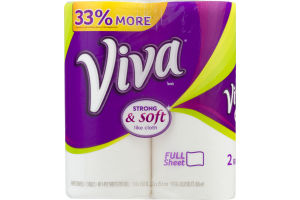 Viva Towels Strong & Soft Rolls - 2 CT