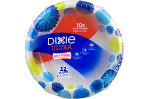 Dixie Ultra Plates 8.5 in - 32 CT