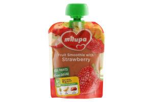 Пюре фруктове «Яблуко, банан і полуниця» Milupa для дітей від 6 місяців