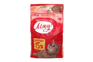 Корм повнораціонний сухий для дорослих котів з кроликом Мяу 2кг