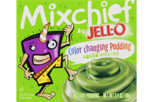 Jell-O Mixchief Color Changing Vanilla Instant Pudding
