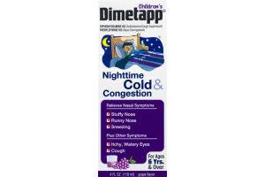 Children's Dimetapp Nighttime Cold & Congestion Grape