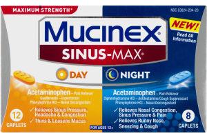 Mucinex Sinus-Max Day/Night Caplets - 20 CT