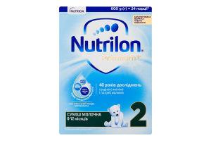 Суміш молочна суха для дітей від 6 до 12міс 2 Premium+ Nutrilon к/у 600г
