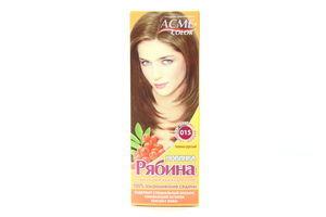 Крем-краска для волос Рябина Темно-русый №015 Acme Color
