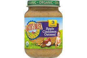 Earth's Best Organic Apple Cinnamon Oatmeal Stage 3