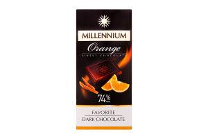 Шоколад Millennium Favorite Orange чорний 74% 100г