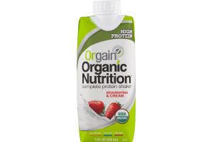 Orgain Organic Nutrition Complete Protein Shake Strawberries & Cream
