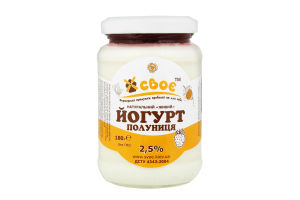 Йогурт Своє Полуниця с/б 2,5% 180г