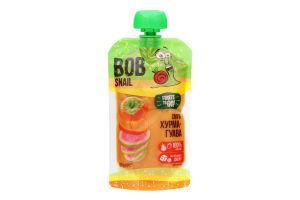 Пюре фруктовое Смузи Хурма-гуава Bob Snail д/п 120г