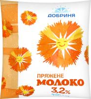 Молоко 3.2% топленое Добриня м/у 450г